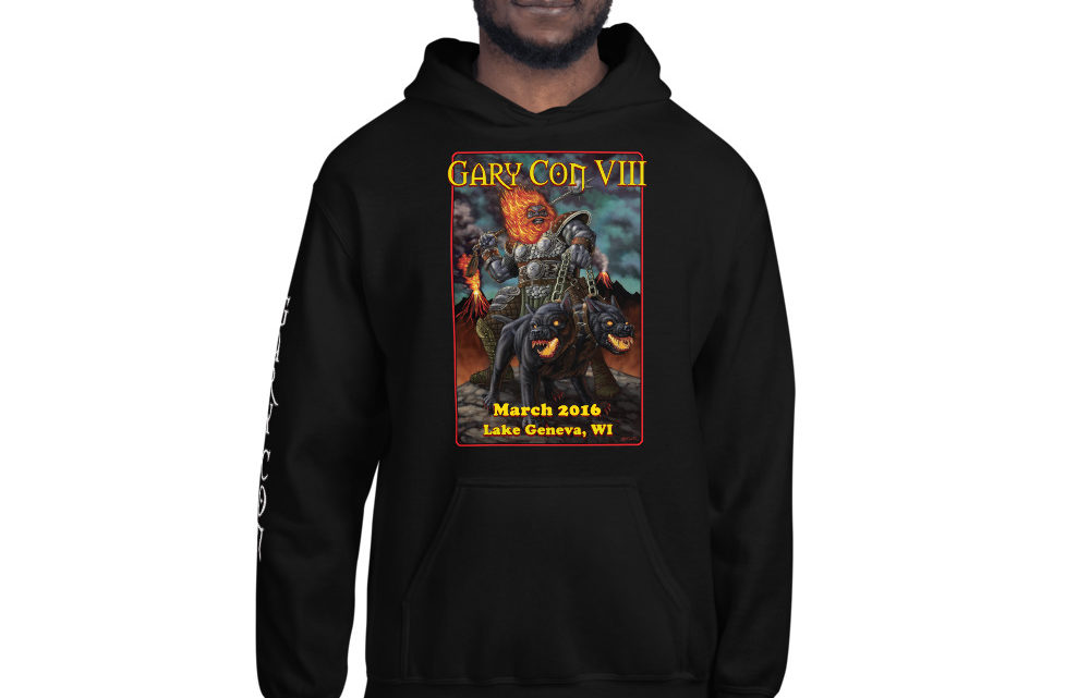 Gary Con VIII Fire Giant Reprint- Unisex Hoodie w/ Sleeve Image (PF)