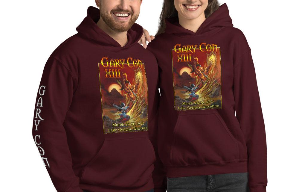 Gary Con XIII Fire Elemental- Unisex Hoodie w/ Sleeve Image (PF)